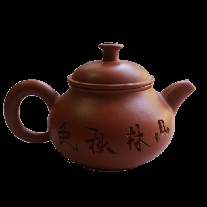 Чайник - Домик в деревне - светло-коричневый_3