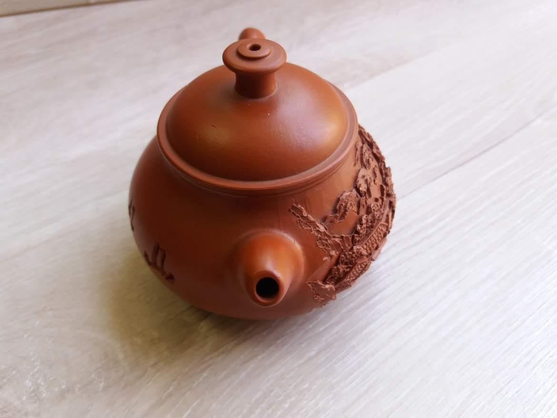 Чайник - Домик в деревне - светло-коричневый