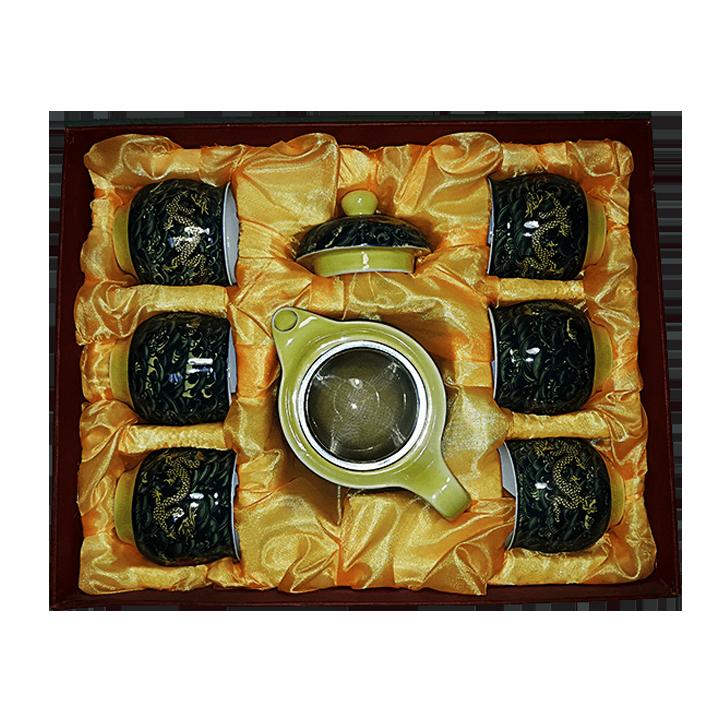 Чайный сервиз Дракон зеленый