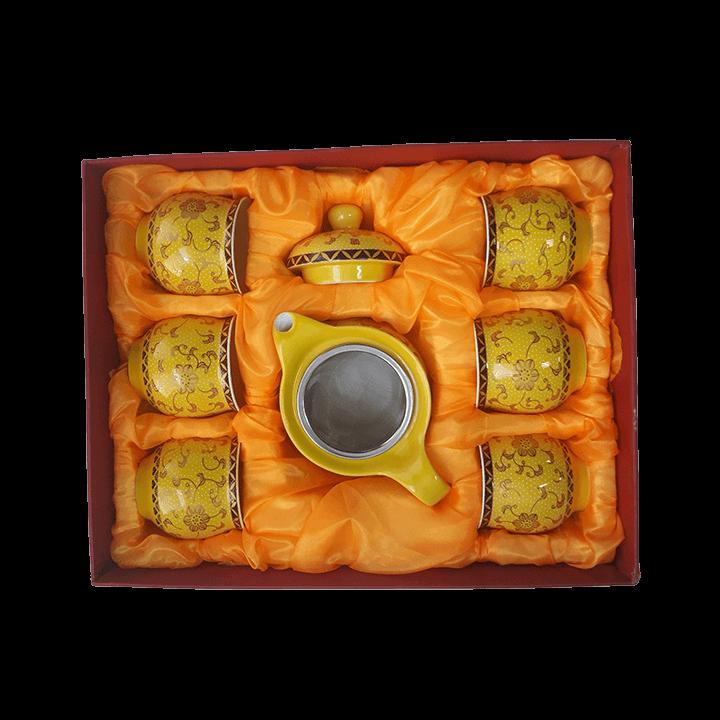 Чайный сервиз Симфония желтый_1