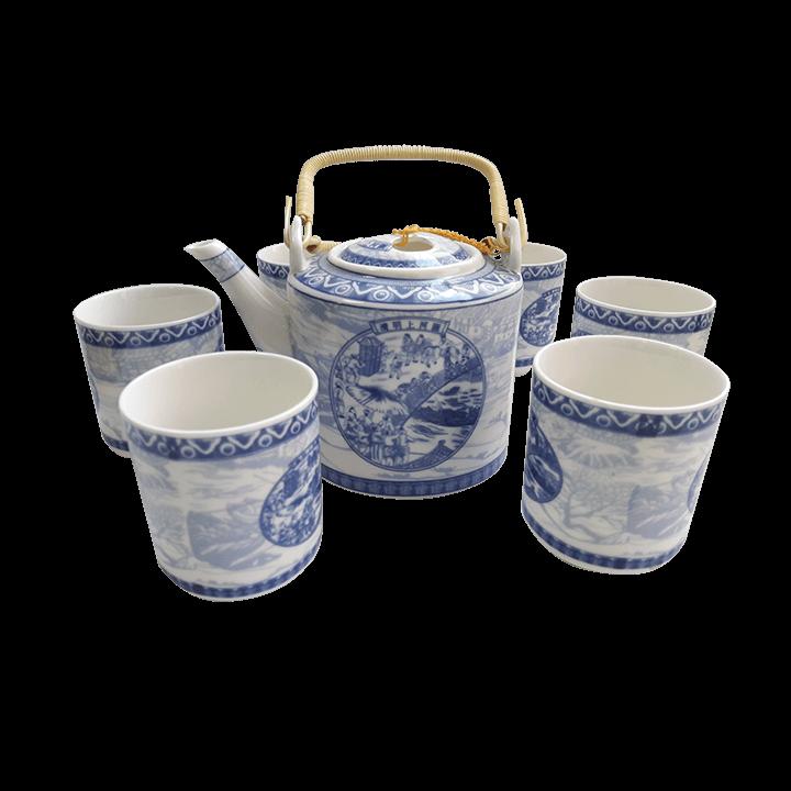 Чайный сервиз Китайцы синий