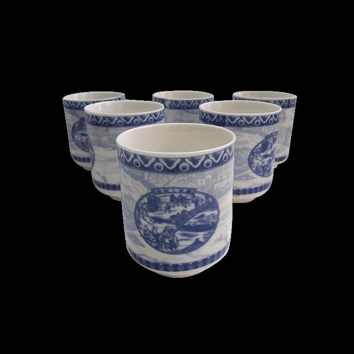 Чайный сервиз Китайцы синий_3
